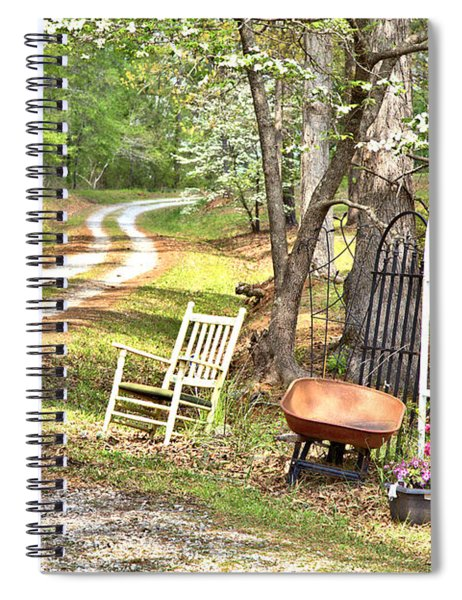 Country Driveway In Springtime Spiral Notebook