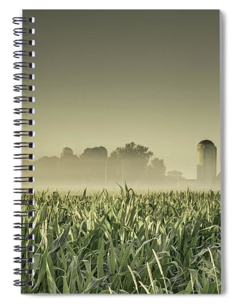 Country Farm Landscape Spiral Notebook