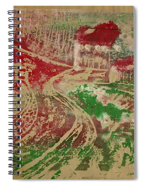 Country Home With Cottage Spiral Notebook