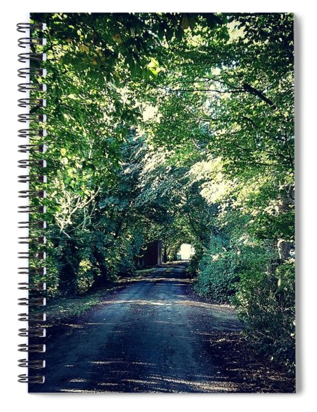 Country Lane, Tree Tunnel Spiral Notebook