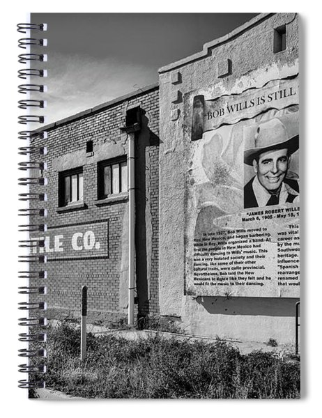 Country Legend Bob Wills In Roy New Mexico Spiral Notebook