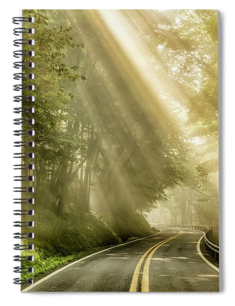 Country Road Rays Of Light Spiral Notebook