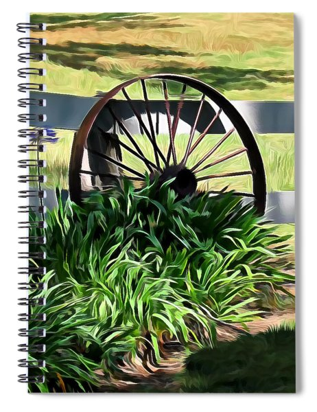 Country Wagon Wheel Spiral Notebook