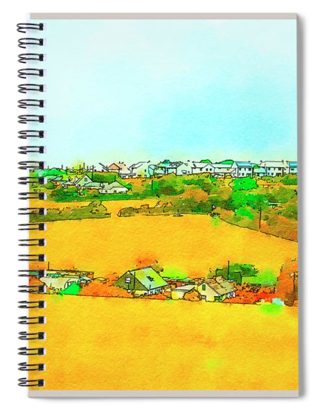 countryside  in Cornwall, UK Spiral Notebook