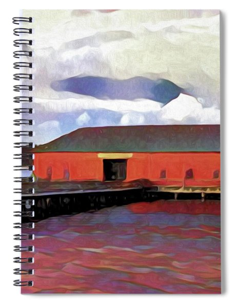 Coupeville Wharf Painterly Effect Spiral Notebook