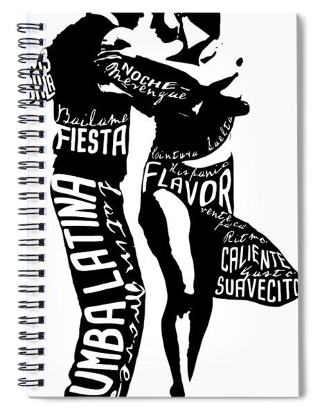 Couple Dancing Latin Music Spiral Notebook