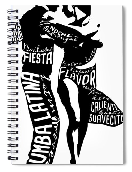 Couple Dancing Latin Music Spiral Notebook