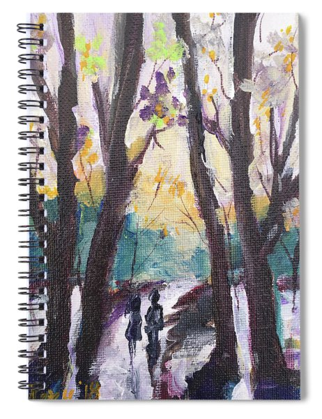 Couple In The Woods Spiral Notebook