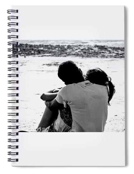 Couple On Beach Spiral Notebook