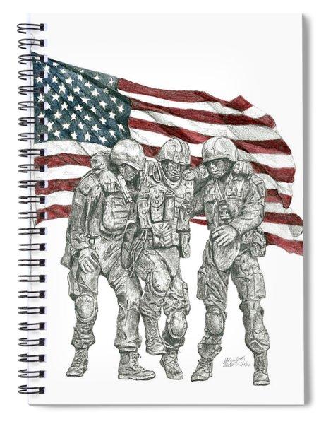 Courage In Brotherhood Spiral Notebook