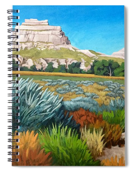 Courthouse And Jail Rocks Acrylic Spiral Notebook