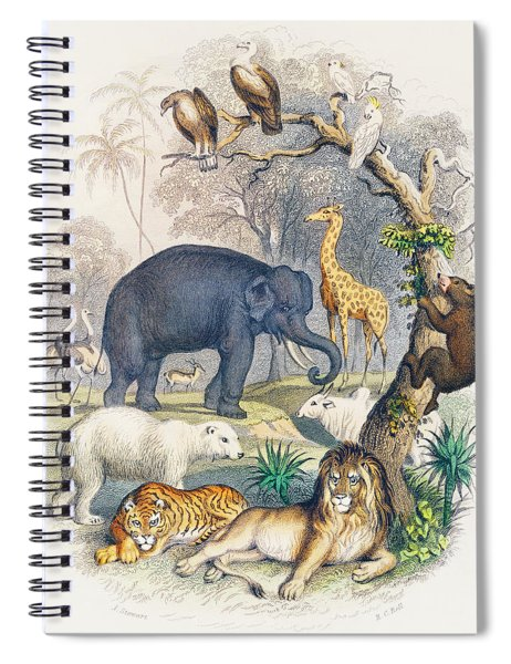 Cover Of A History Of The Earth And Animated Nature Spiral Notebook