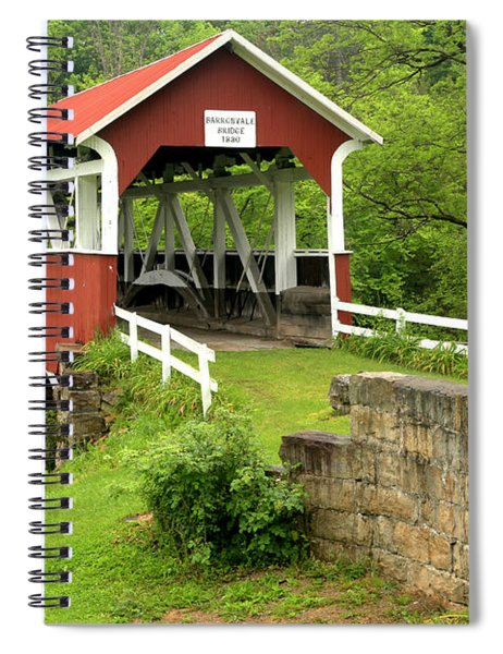 Covered Bridge In Middlecreek Township Spiral Notebook