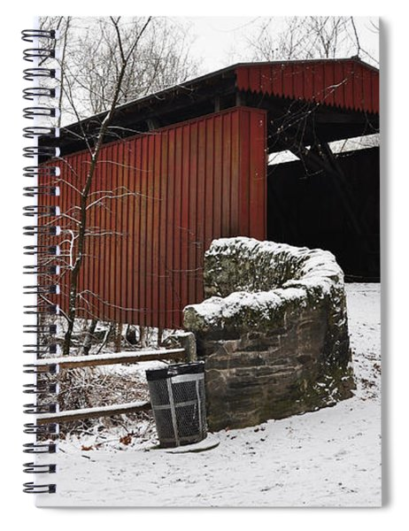Covered Bridge Over The Wissahickon Creek Spiral Notebook