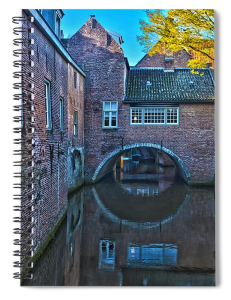 Covered Canal In Den Bosch Spiral Notebook