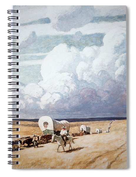 Covered Wagons Heading West Spiral Notebook