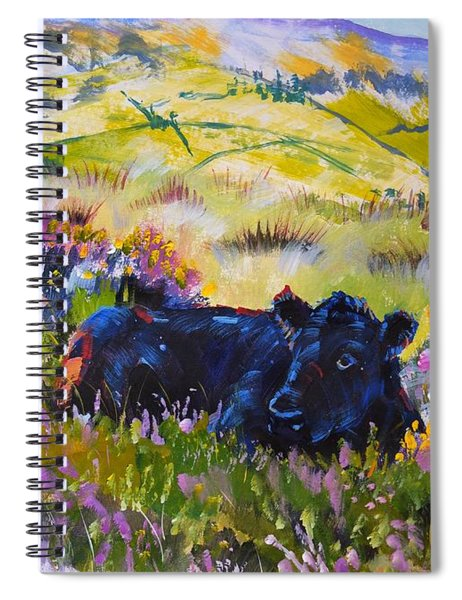 Cow Lying Down Among Plants Spiral Notebook