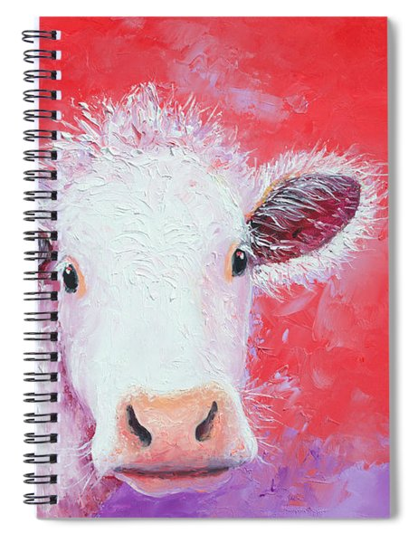 Cow Painting - Charolais Spiral Notebook