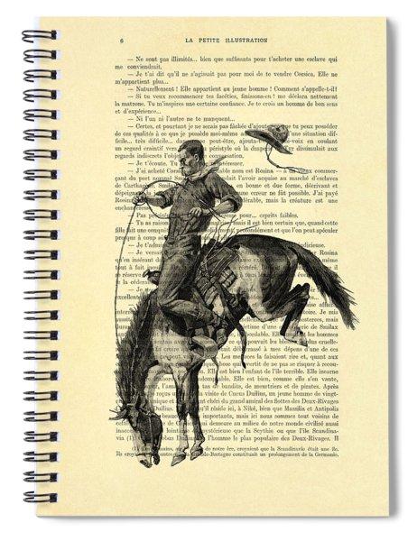 Cowboy And Horse, Western Art Spiral Notebook