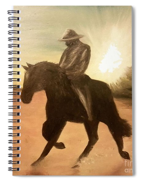 Cowboy On The Range Spiral Notebook
