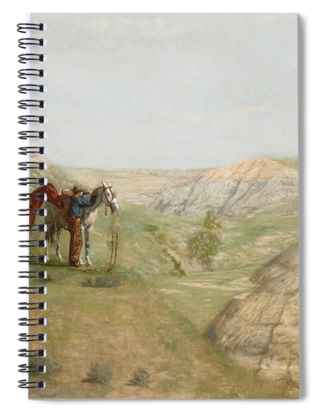 Cowboys In The Badlands Spiral Notebook by Thomas Cowperthwait Eakins