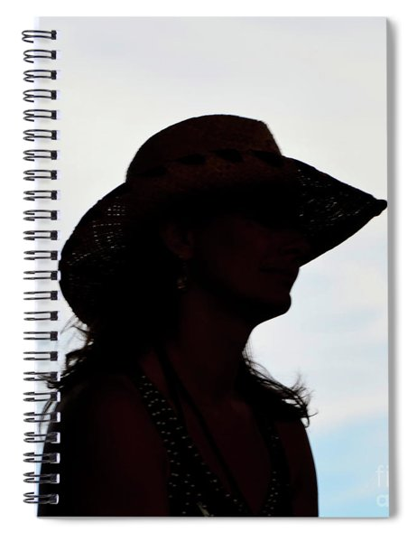 Cowgirl In The Sky Spiral Notebook