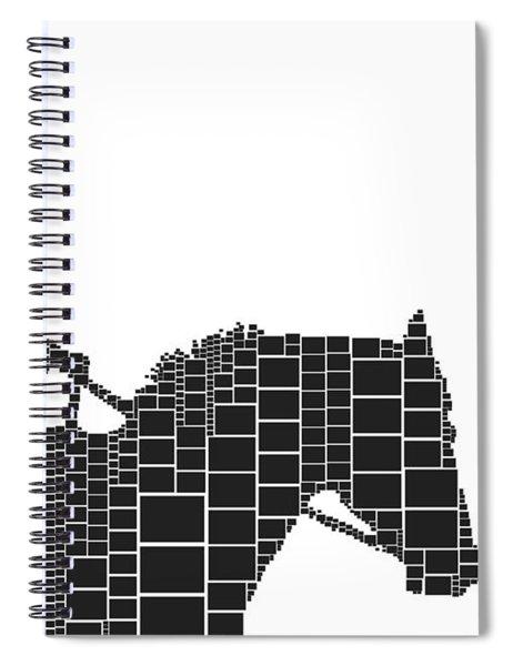 Cowgirl Squares Spiral Notebook