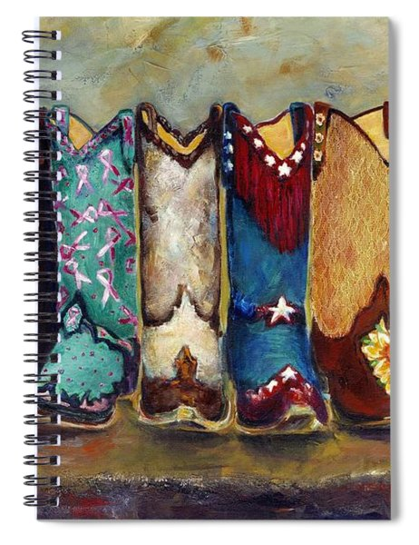 Cowgirls Kickin The Blues Spiral Notebook