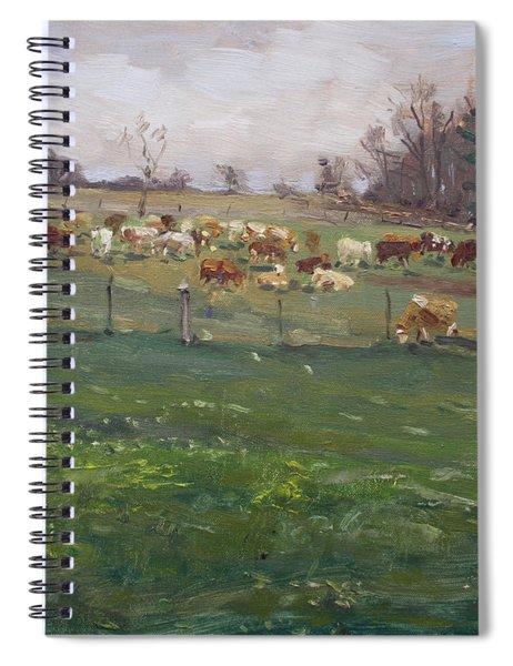 Cows In A Farm, Georgetown  Spiral Notebook