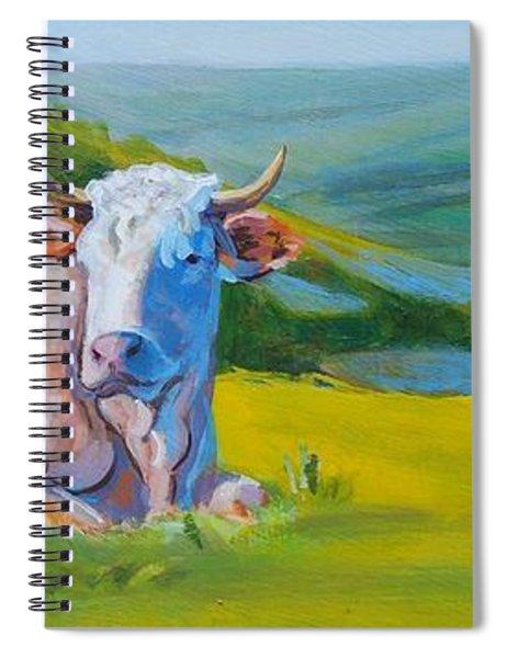 Cows Lying Down In Devon Hills Spiral Notebook