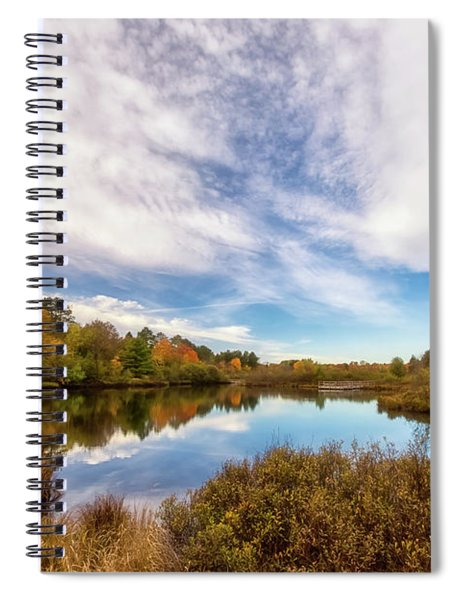 Spiral Notebook featuring the photograph Cox Pond 1 by Heather Kenward