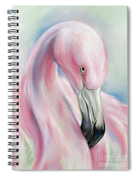 Coy Flamingo Spiral Notebook