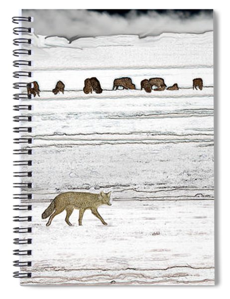 Coyote And Bison Spiral Notebook