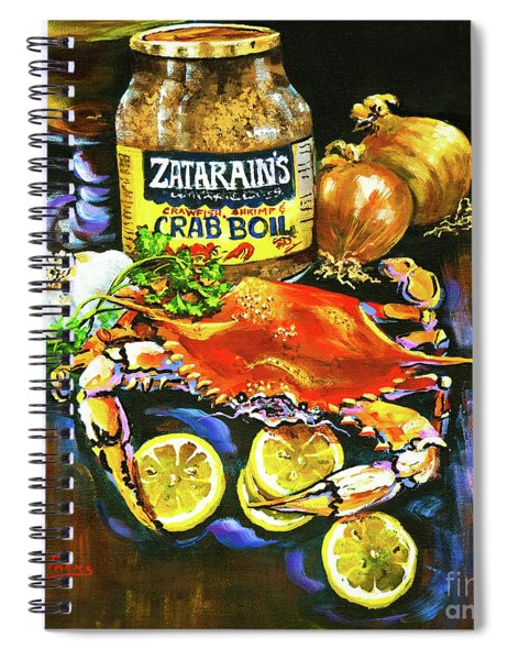Crab Fixin's Spiral Notebook