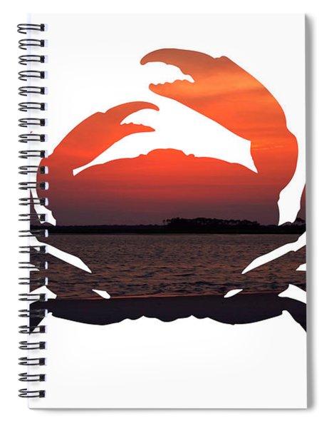 Crab Sunset Spiral Notebook