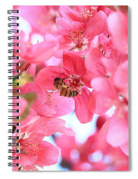 Crabapple Bees 2 Spiral Notebook
