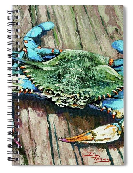 Crabby Blue Spiral Notebook