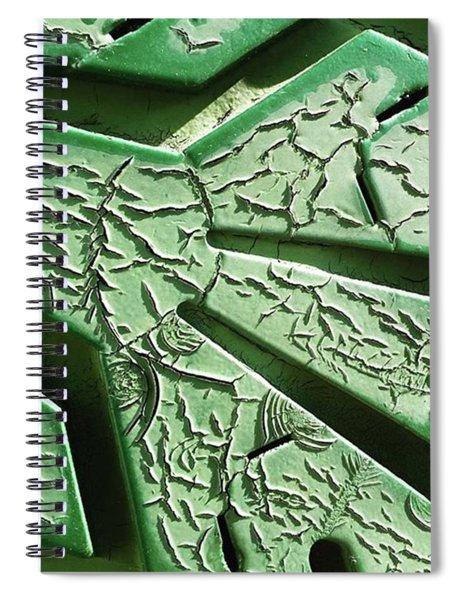 Cracked Up. #green #crackle Spiral Notebook