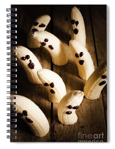 Crafty Ghost Bananas Spiral Notebook