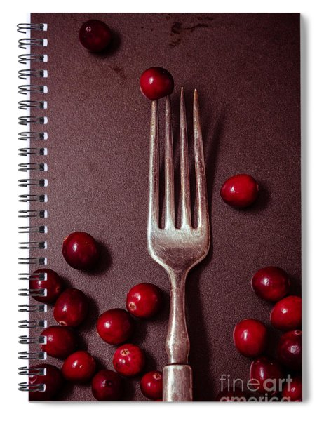 Cranberries And Fork Spiral Notebook