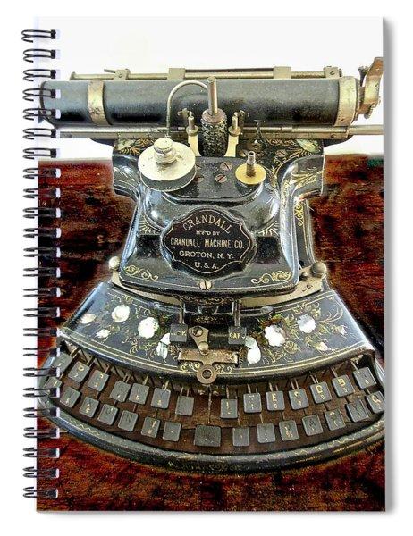 Crandall Type Writer 1893 Spiral Notebook