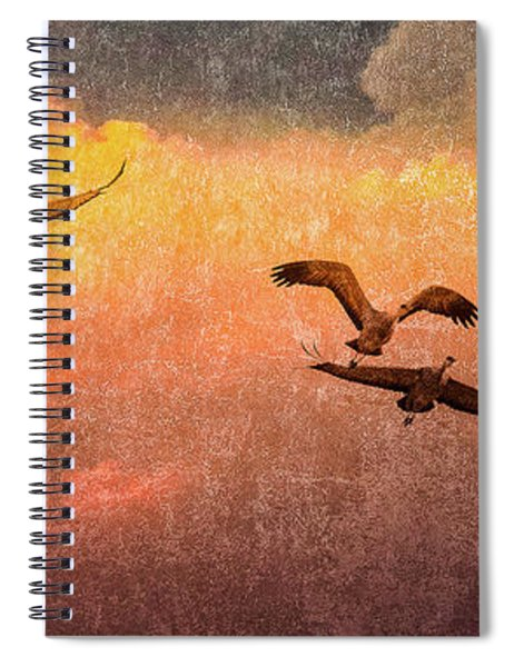Cranes Lifting Into The Sky Spiral Notebook