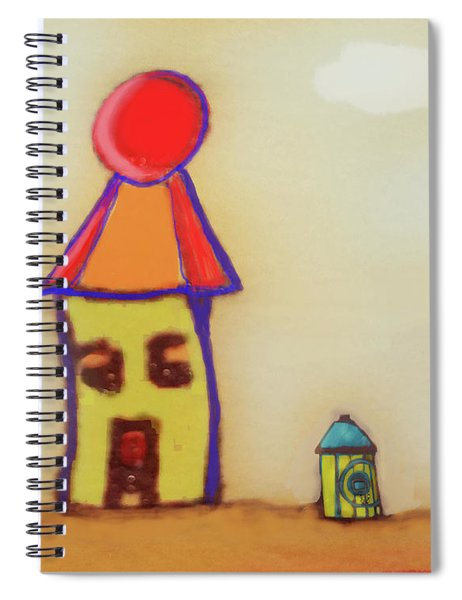 Cranky Clown Cabana And Fire Hydrant Spiral Notebook