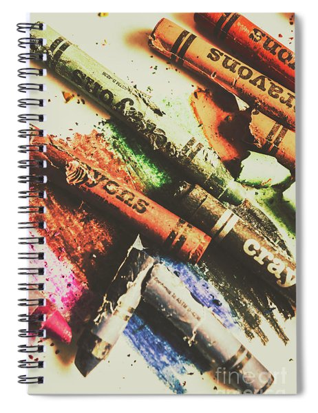 Crash Test Crayons Spiral Notebook
