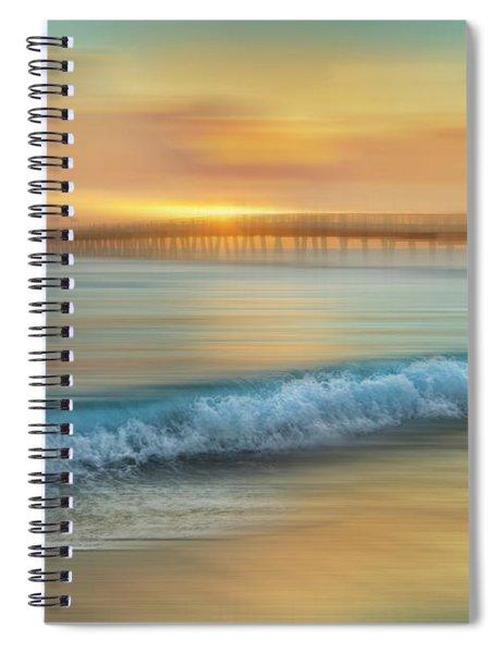 Crashing Waves At Sunrise Dreamscape Spiral Notebook
