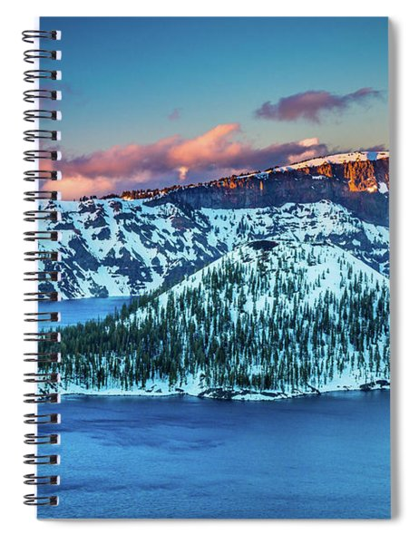 Crater Lake Dusk Spiral Notebook