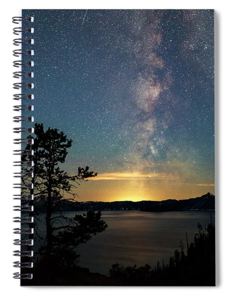 Crater Lake Milky Way Spiral Notebook