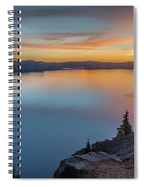 Crater Lake Morning No. 1 Spiral Notebook