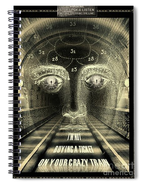 Crazy Train Spiral Notebook