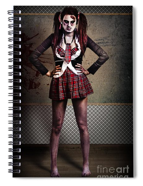 Crazy Zombie School Student. Tales From The Crypt  Spiral Notebook